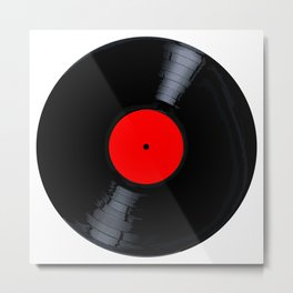 Blank Red Record Label Metal Print