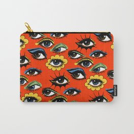 60s Eye Pattern Tasche