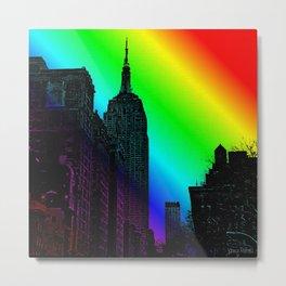Empire State Pop art Metal Print