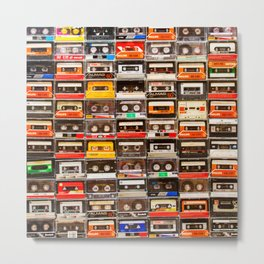 Something Nostalgic V - Music - Global Language #decor #society6 #buyart Metal Print
