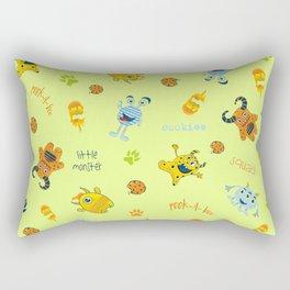 Little Monster Squad-Neon Rectangular Pillow