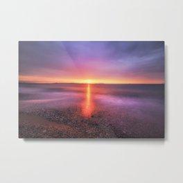 Bright sunset against dramatic sky Metal Print
