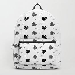 Heart Doodle Pattern Monochromatic Backpack