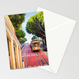 Two Iconic MUNI Cable Cars in San Francisco, California Stationery Cards