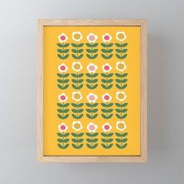 Pyrex Flowers Framed Mini Art Print