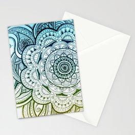 Mandala Blue Yellow Stationery Cards