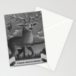 retro retro La Pologne Paradis des chasseurs poster Stationery Cards