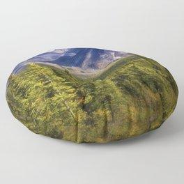 The Alaska Range Floor Pillow