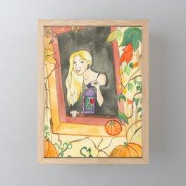 Autumn Lantern Framed Mini Art Print