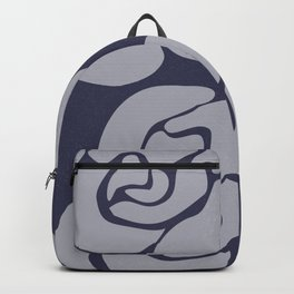 White Roses on Blue II Backpack