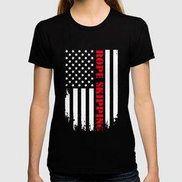 Patriotic Rope Skipping Player - Flag T-shirt