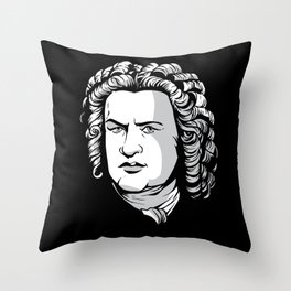 Bach Portrait Throw Pillow