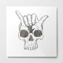 Surfer Skull - Cool Skull Metal Print