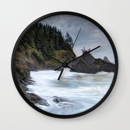 Oregon Coastline Wall Clock