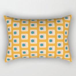 Flower Eggs Yellow Rectangular Pillow