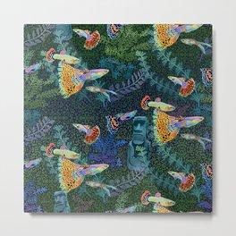 Guppy Rainbow Fish Metal Print