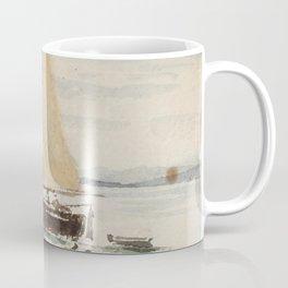 """Egon Schiele """"Segelschiff mit Spiegelungen (Sailing ship with reflection)"""" Coffee Mug"""