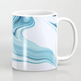 Liquid blue marble Coffee Mug
