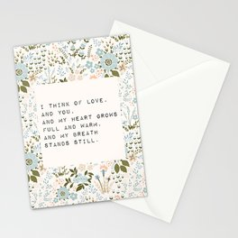 I think of love, and you - E. Dickinson Collection Stationery Cards