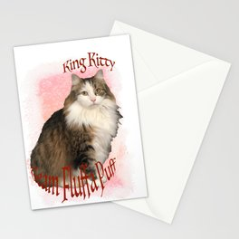 King Kitty -Team Fluffa Puff Stationery Cards