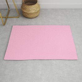From The Crayon Box – Cotton Candy Pink - Pastel Pink Solid Color Rug