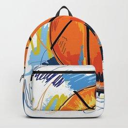 Basketball graffiti art Backpack