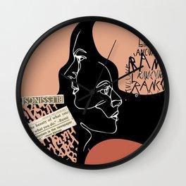Urban Portrait Collage Wall Clock