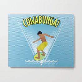 Cowabunga Flow-boarding Pop Art Metal Print