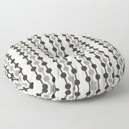 Geometric Droplets Pattern Series in Black Gray Cream Floor Pillow