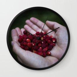 Wild strawberries Wall Clock