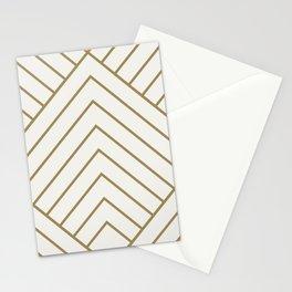 Diamond Series Pyramid Gold on White Stationery Cards