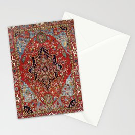 Heriz  Antique Persian Rug Print Stationery Cards
