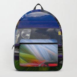 Purple Sports Car Backpack