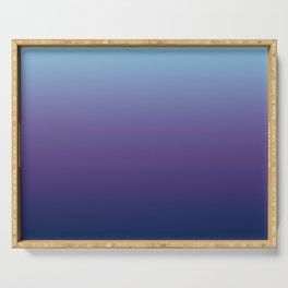 Ombre Blue Ultra Violet Gradient Pattern Serving Tray