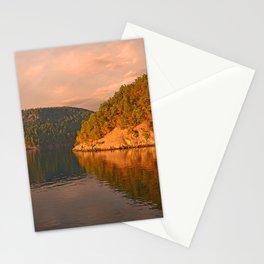 NOVEMBER SUNSET IN THE SAN JUAN ISLANDS Stationery Cards