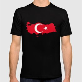Turkey Map with Turkish Flag T-shirt