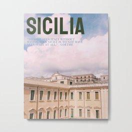 Sicily Magazine Metal Print