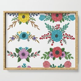 Flower Clorful Collection Serving Tray
