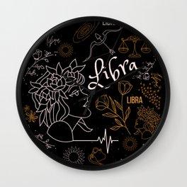 Libra Zodiac Sign Design - Libra Design Wall Clock