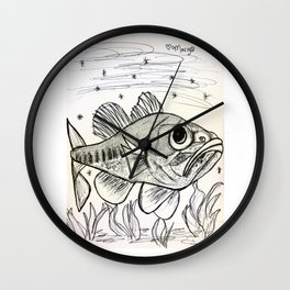 Largemouth Bass Swimming Wall Clock