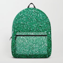 Teal Ombre Glitter Backpack