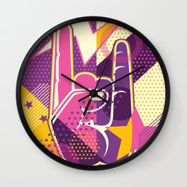 Rock and Roll Forever Wall Clock