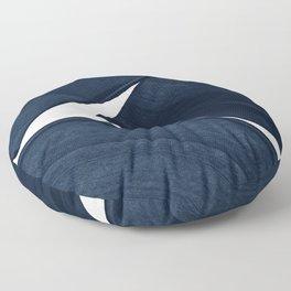 Minimalist Painting Blue II, Modern Abstract Floor Pillow