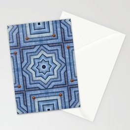 Blue Jeans Denim Quilt Patchwork Stationery Cards
