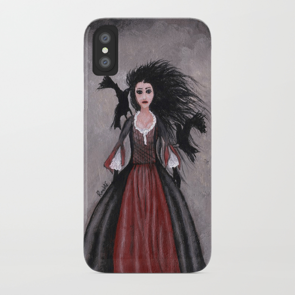 Little Black Haired Girl + Crows Phone Case by Roublerust PCS905958