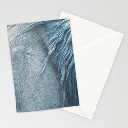 Wild horse photography, fine art print of the mane, for animal lovers, home decor Stationery Cards