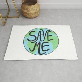 Save Me Earth Hand Drawn Rug