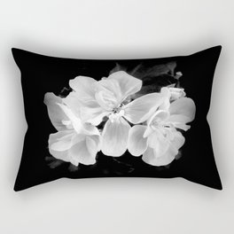 geranium in bw Rectangular Pillow