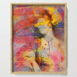 Classical Joshua Reynolds Portrait Pop Art Abstract Remix Serving Tray
