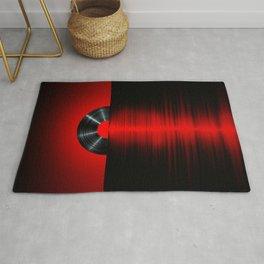 Vinyl sunset red Rug